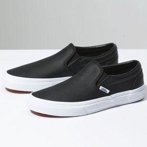 Vans Leather Slip-On - Black - 7.5